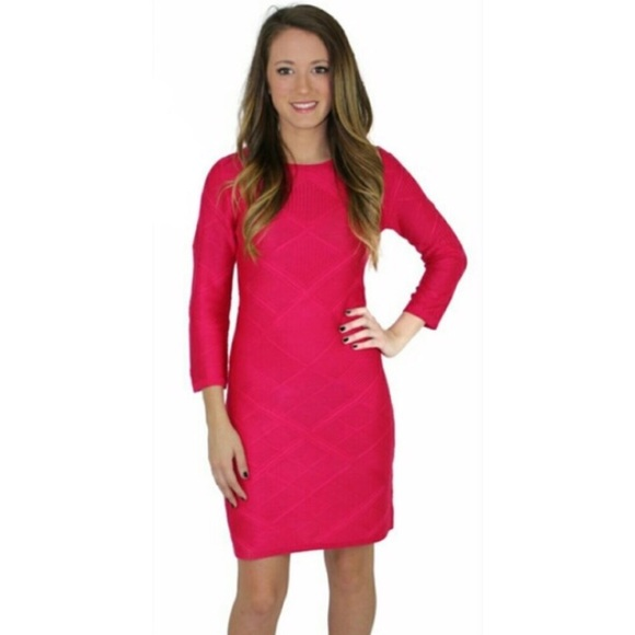 c331ca9f8bf69 Jessica Simpson Dresses | Hot Pink Sweater Dress Bodycon | Poshmark